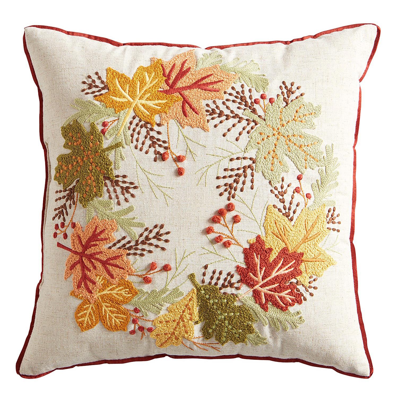 Harvest Wreath Pillow