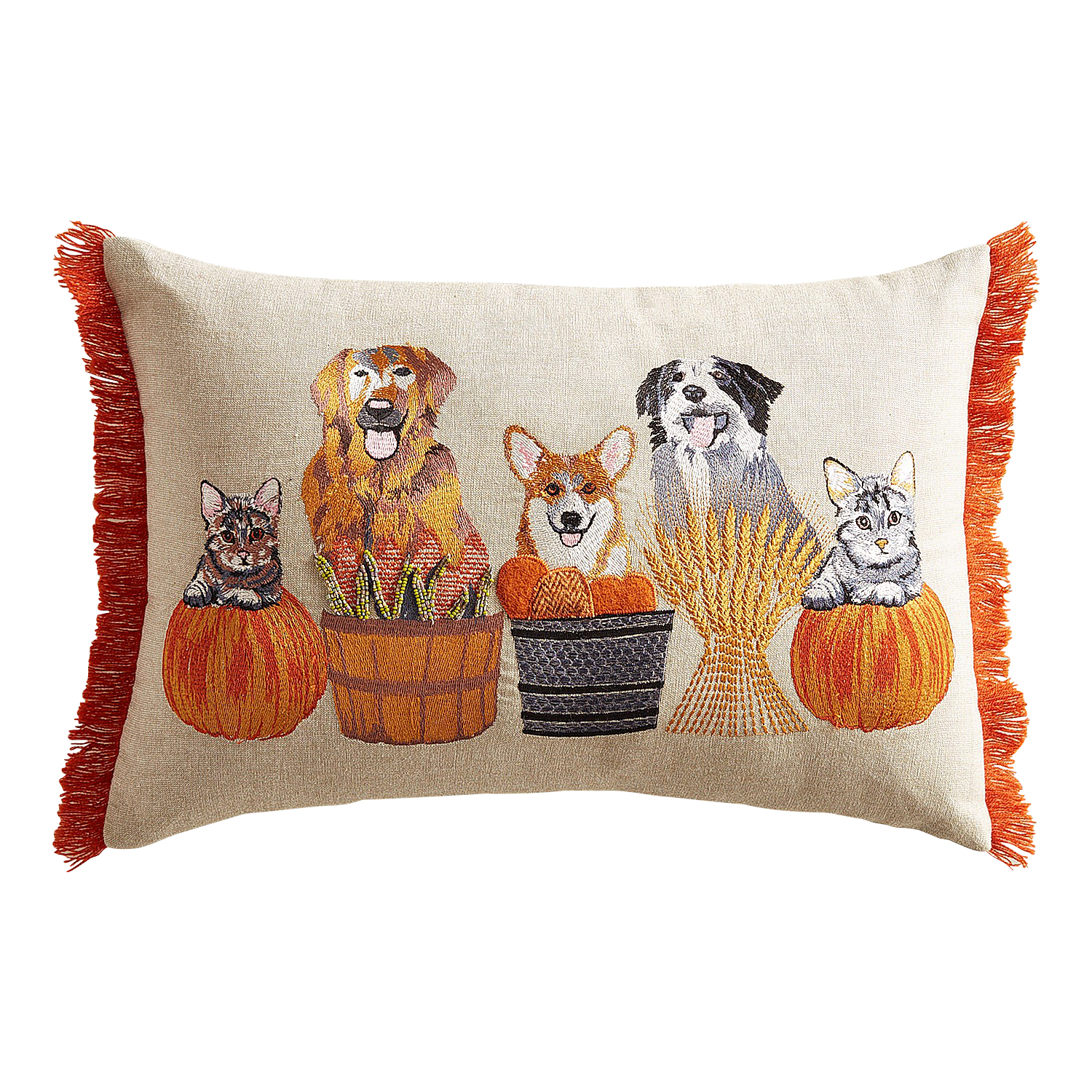 Dogs & Cats Harvest Lumbar Pillow