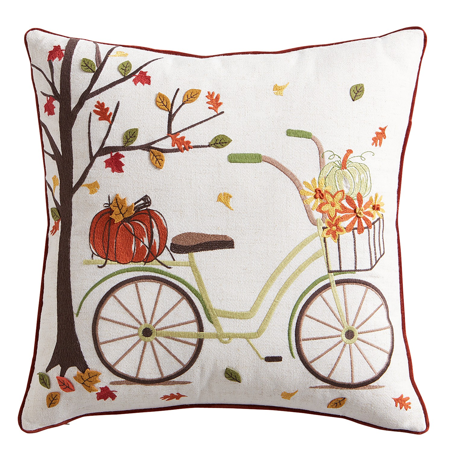 Harvest Bicycle Pillow