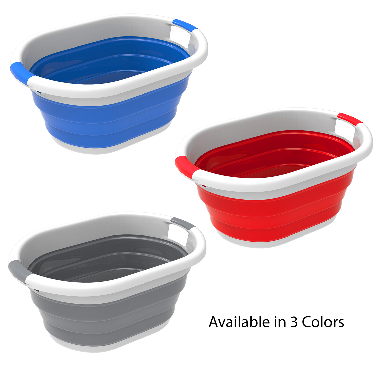 Outdoor Blue Multi Use Collapsible Wash Basin