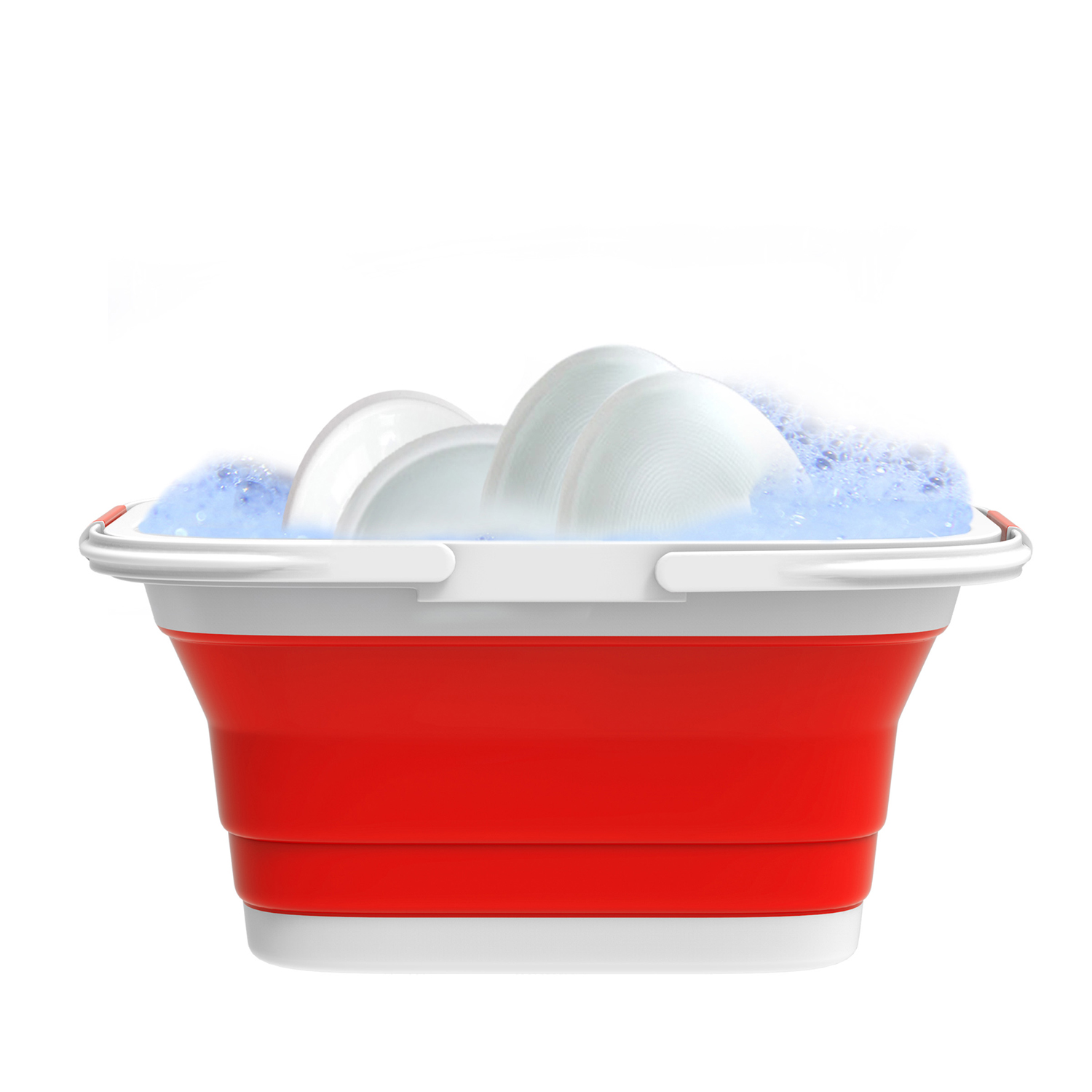 Red Collapsible Basket with Handles