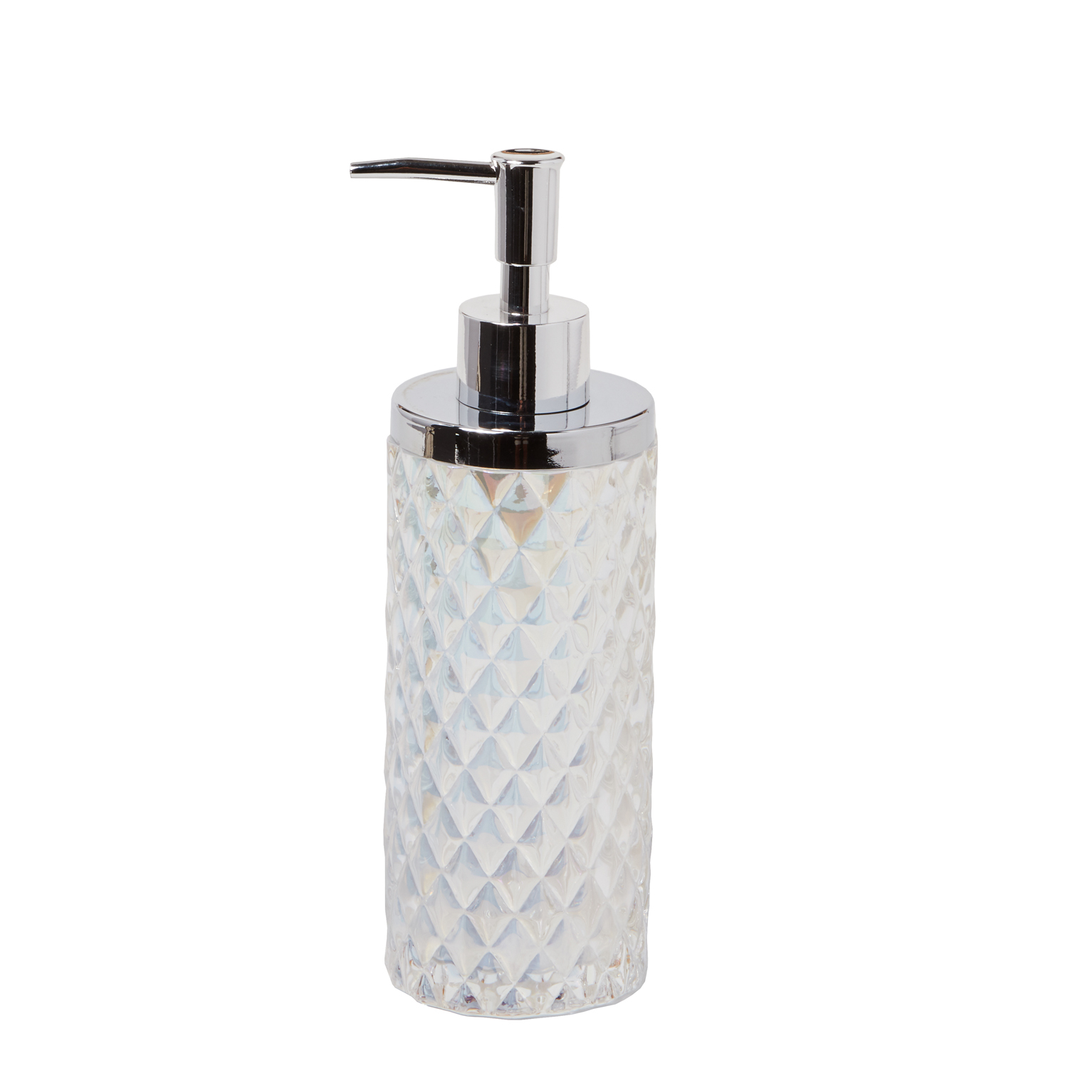 Frosted White Glass Lotion Dispenser