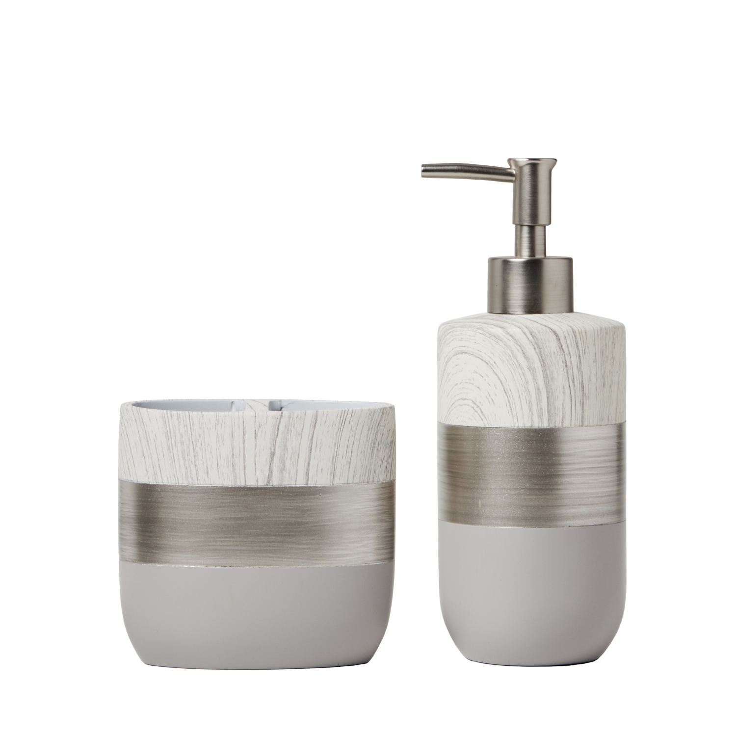 Modern Brushed Slate Toothbrush Holder