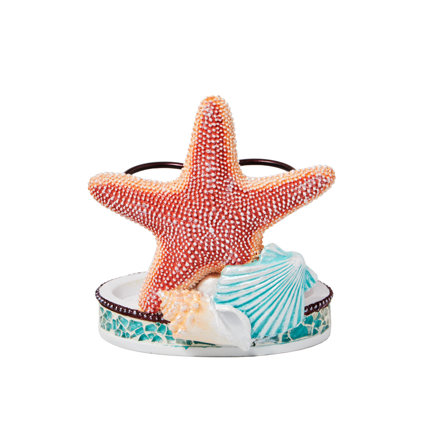 Turquoise Coral Toothbrush Holder