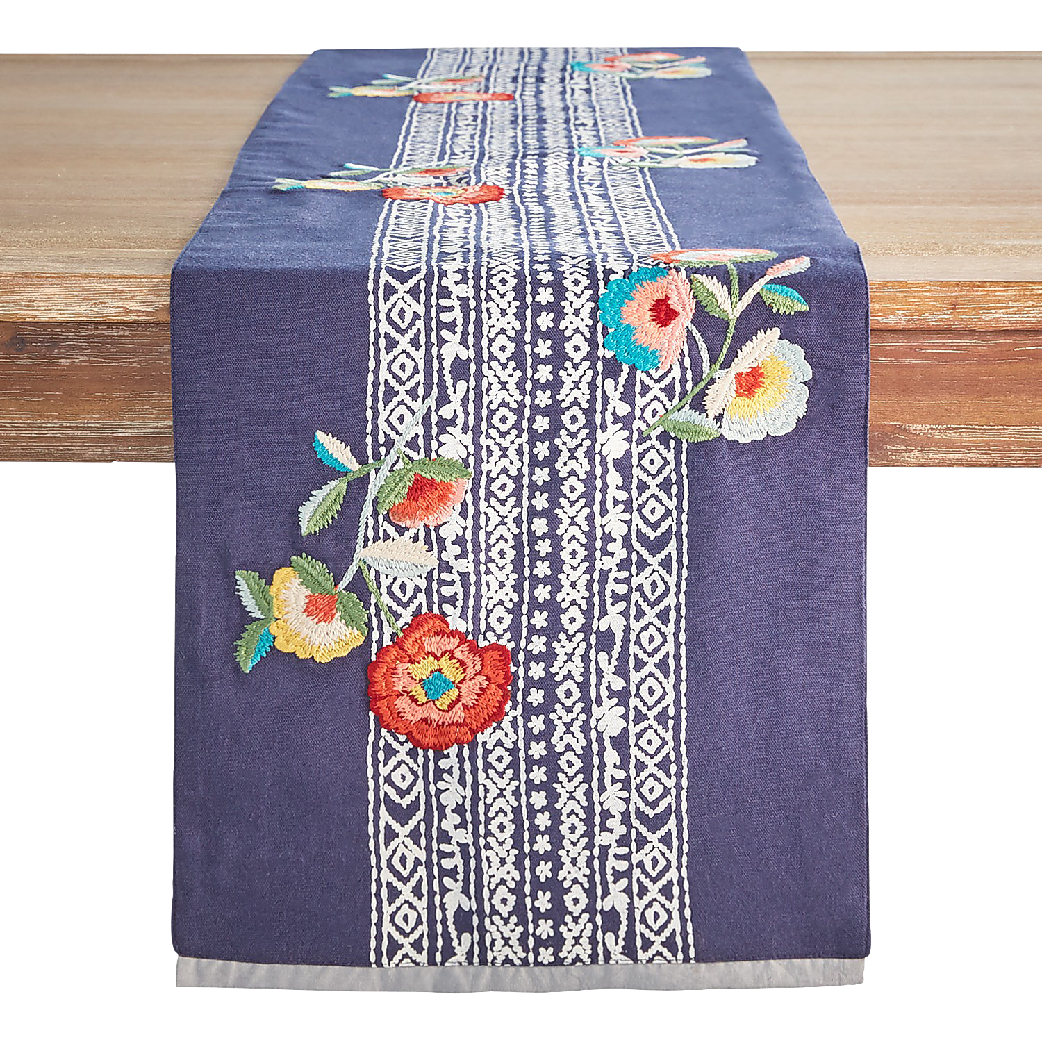 "Floral Band 72"" Table Runner"