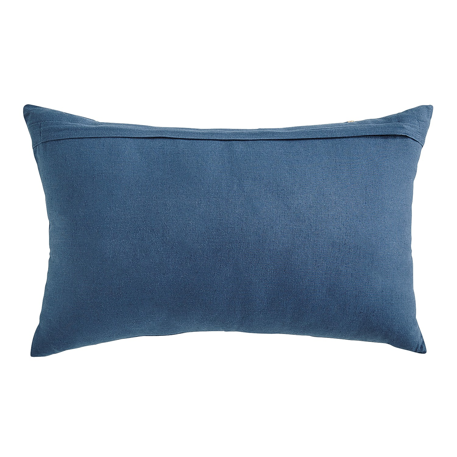 Pillow Multi Colored Flowers On Navy