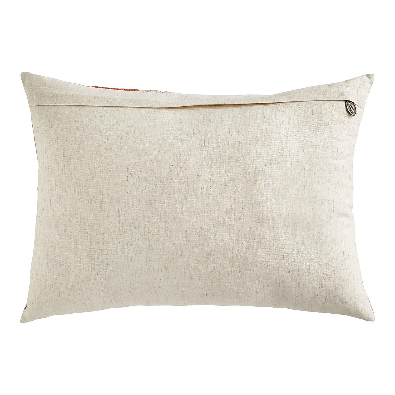 Pink Flowers Lumbar Pillow