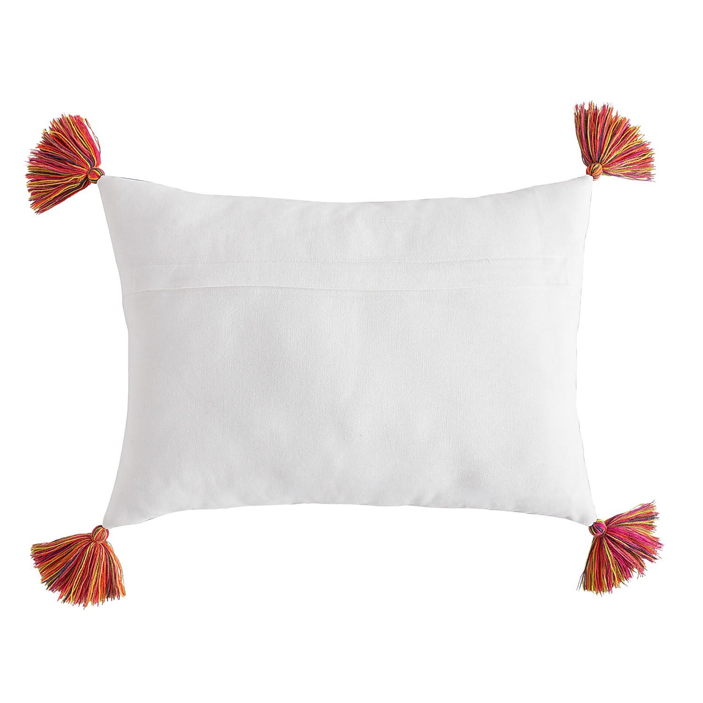 Bright Stripes Lumbar Pillow with Tassels