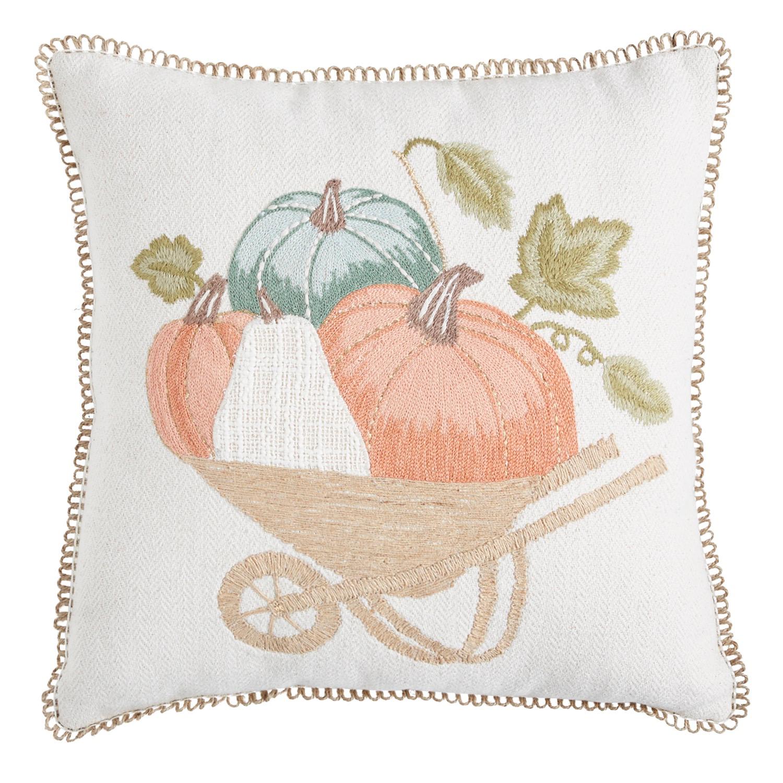 Wheelbarrow Pumpkins Pillow