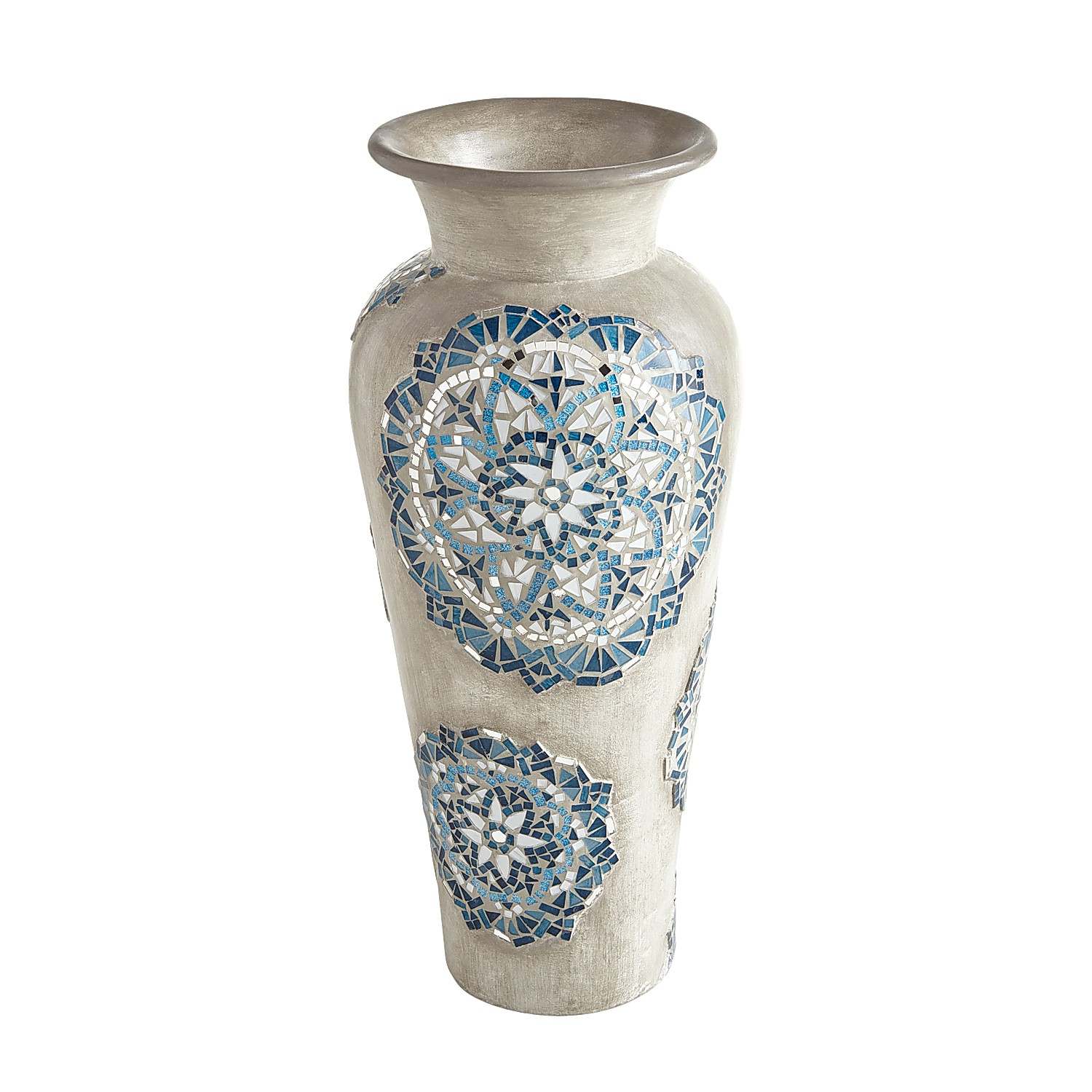 Blue Medallion  Mosaic Vase