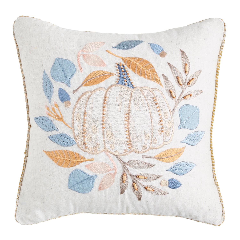 Woodland Gathering White Pillow