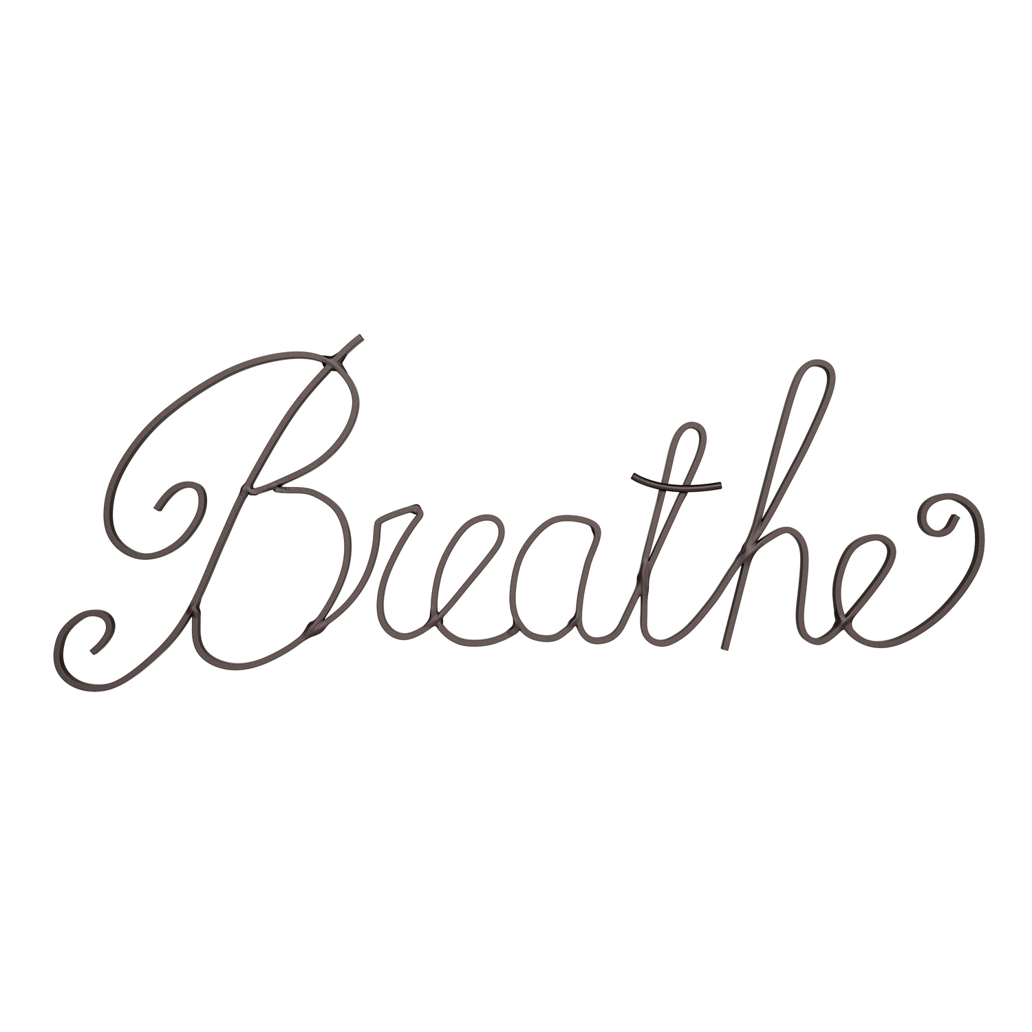 Breathe Iron Cutout Wall Art