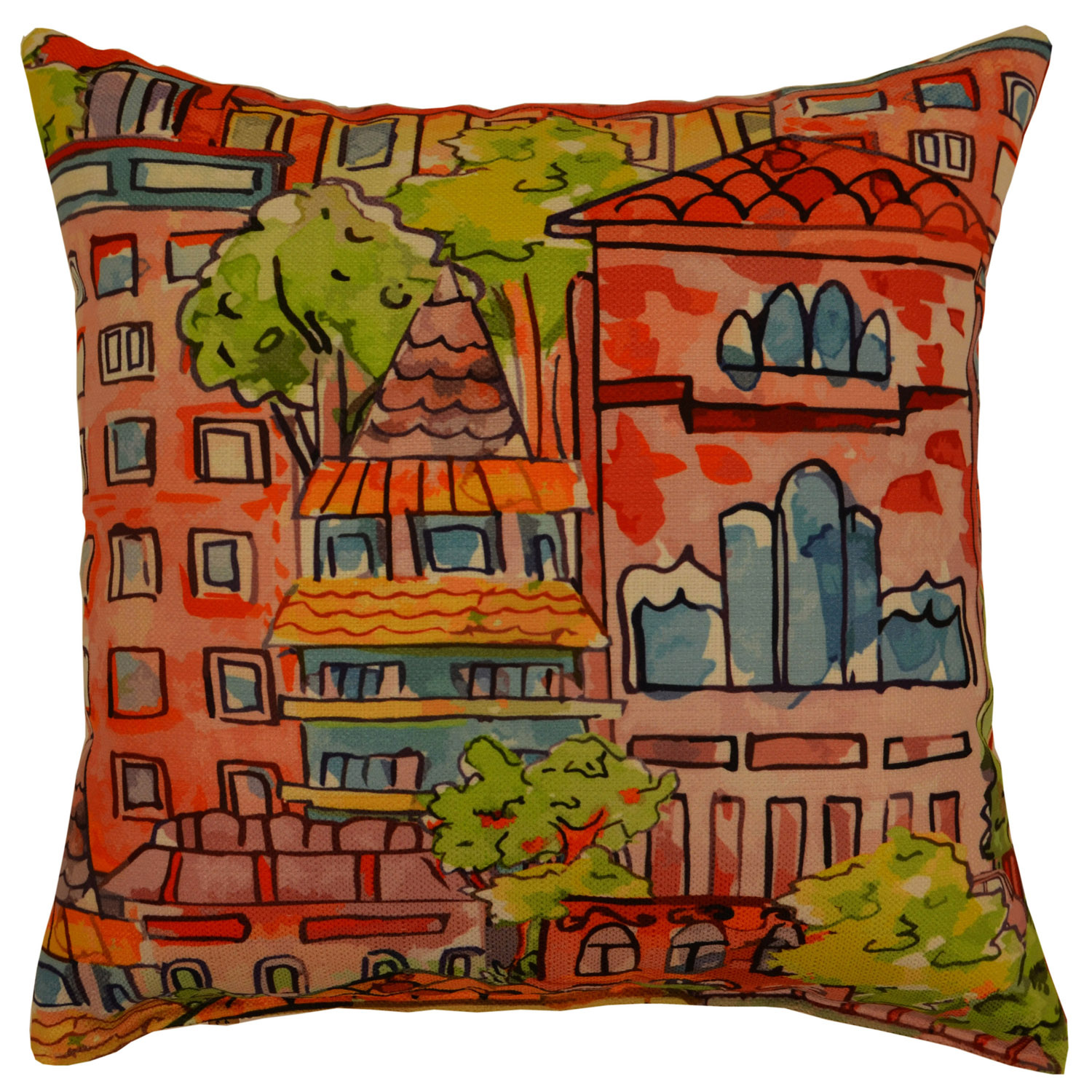 Monte Carlo Bliss Abstract Pillow