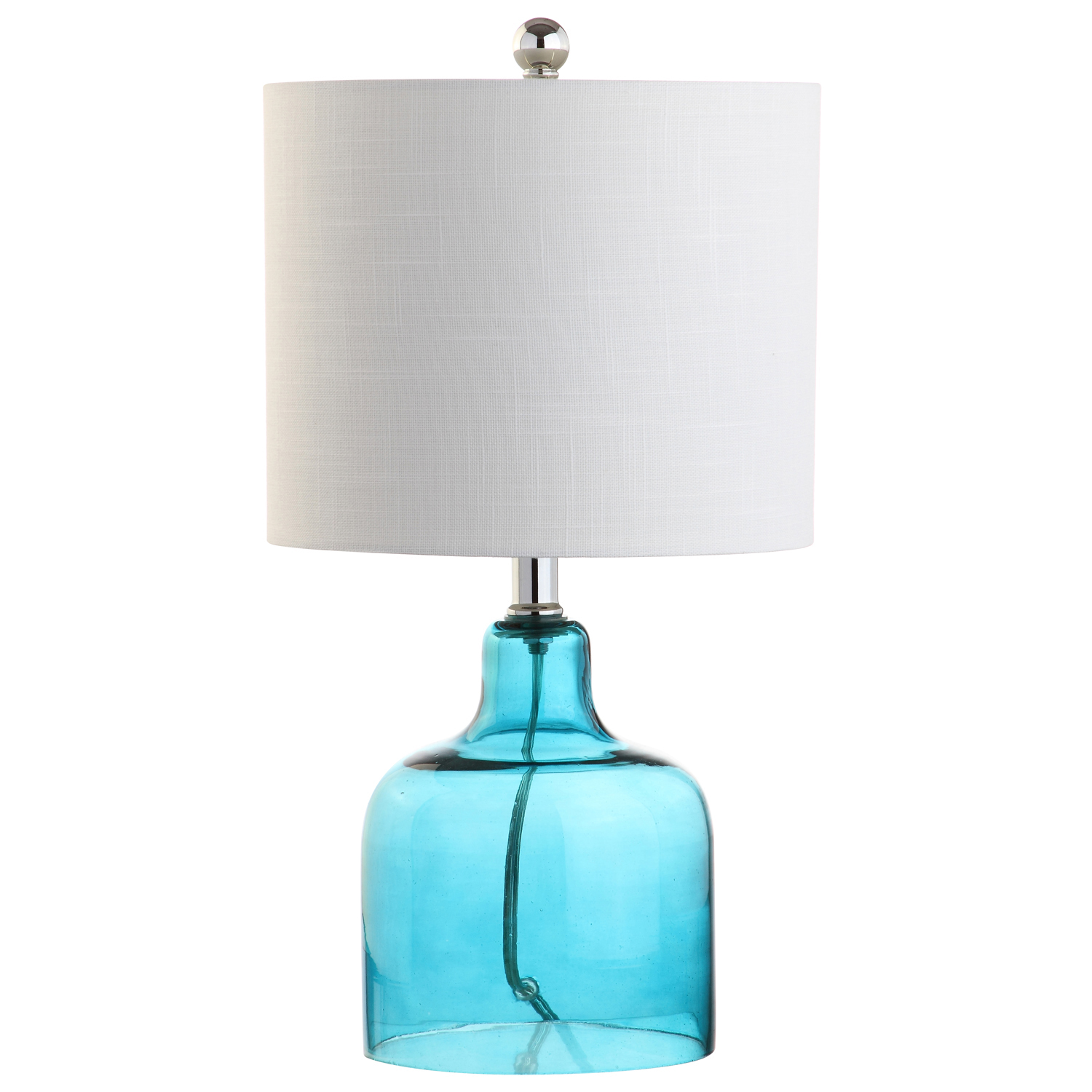Moroccan Blue Glass Table Lamp
