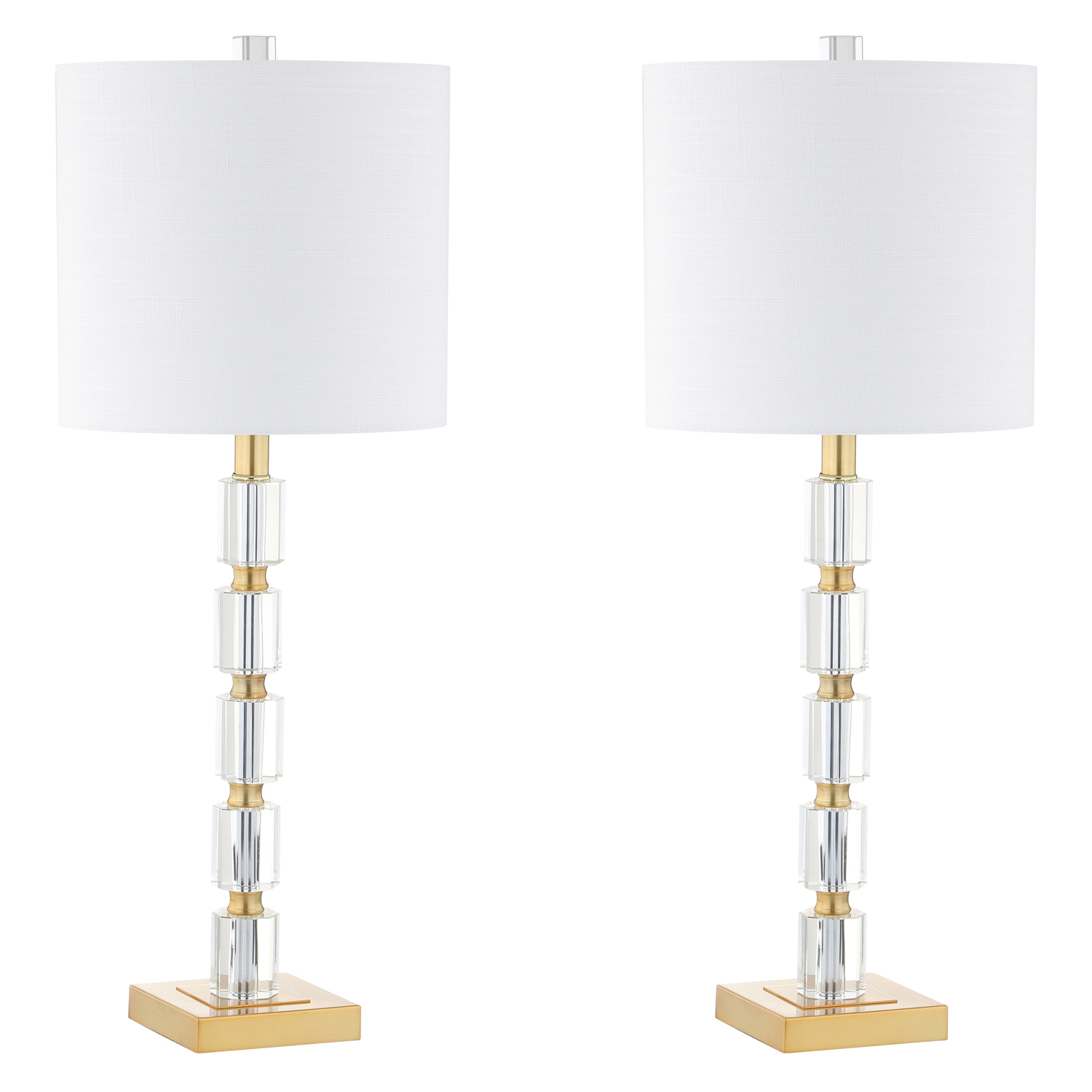 Crystal Cube Table Lamp Set of 2