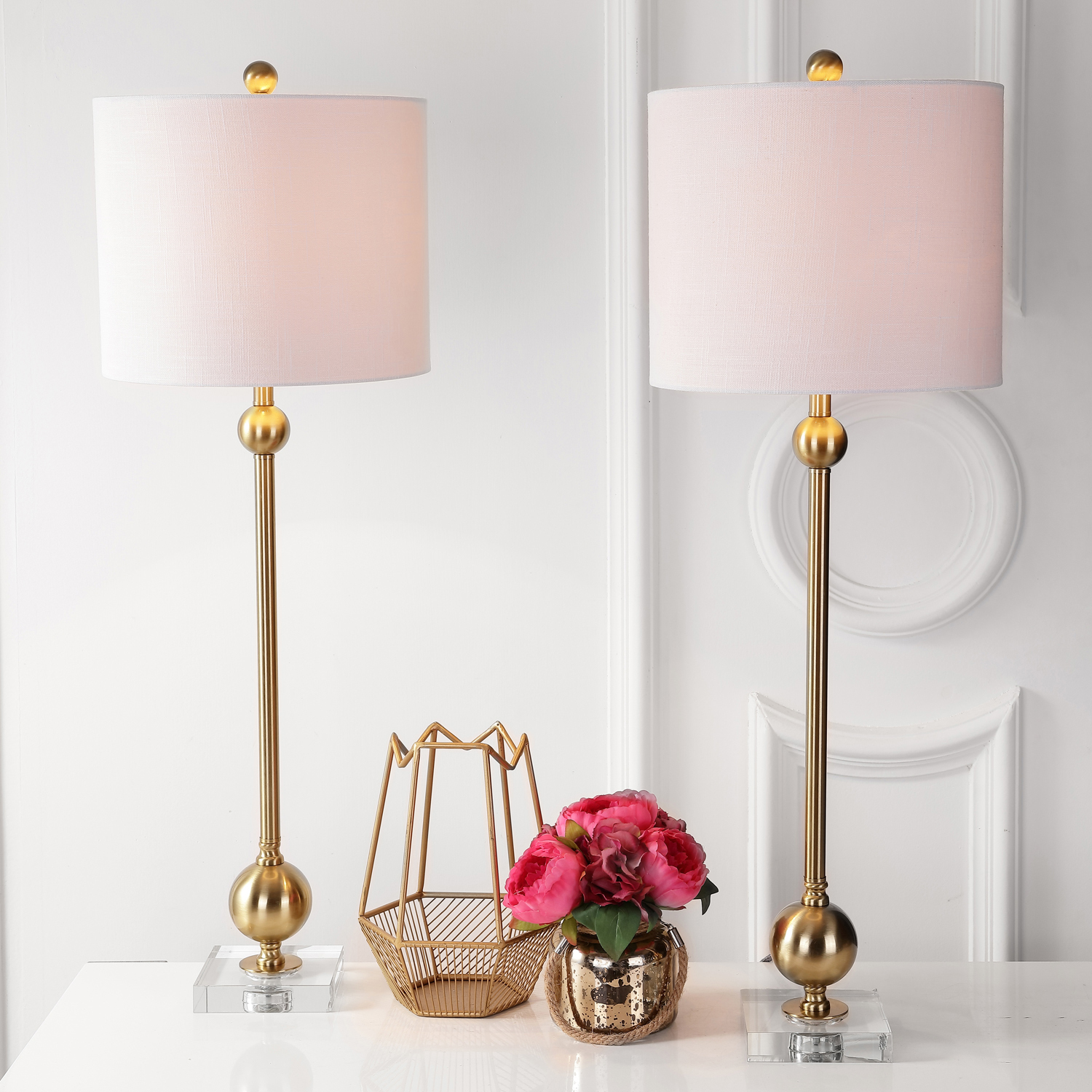 variation thumbnail of Modern Brass Table Lamp Set of 2