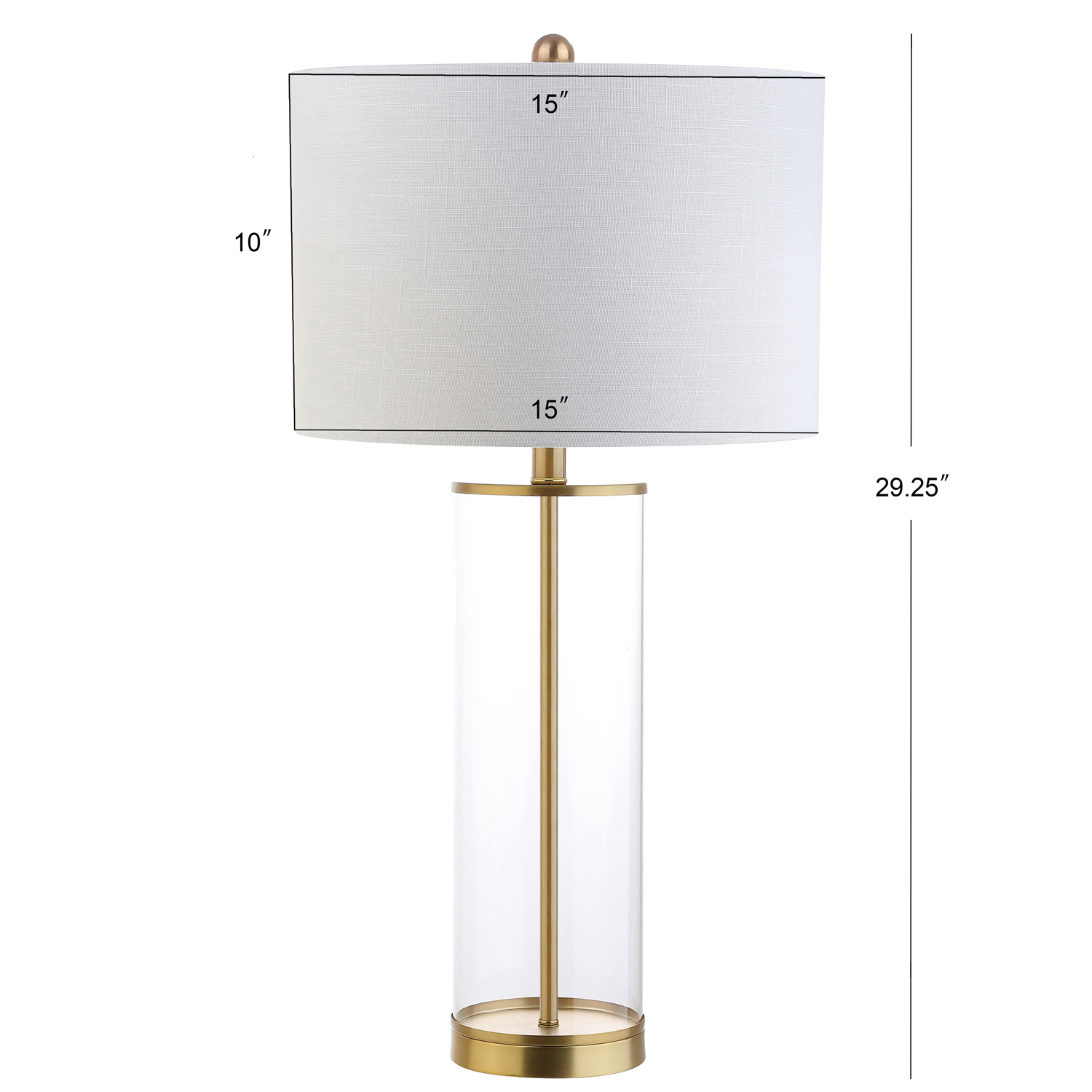 Translucent Cylinder Brass Table Lamp