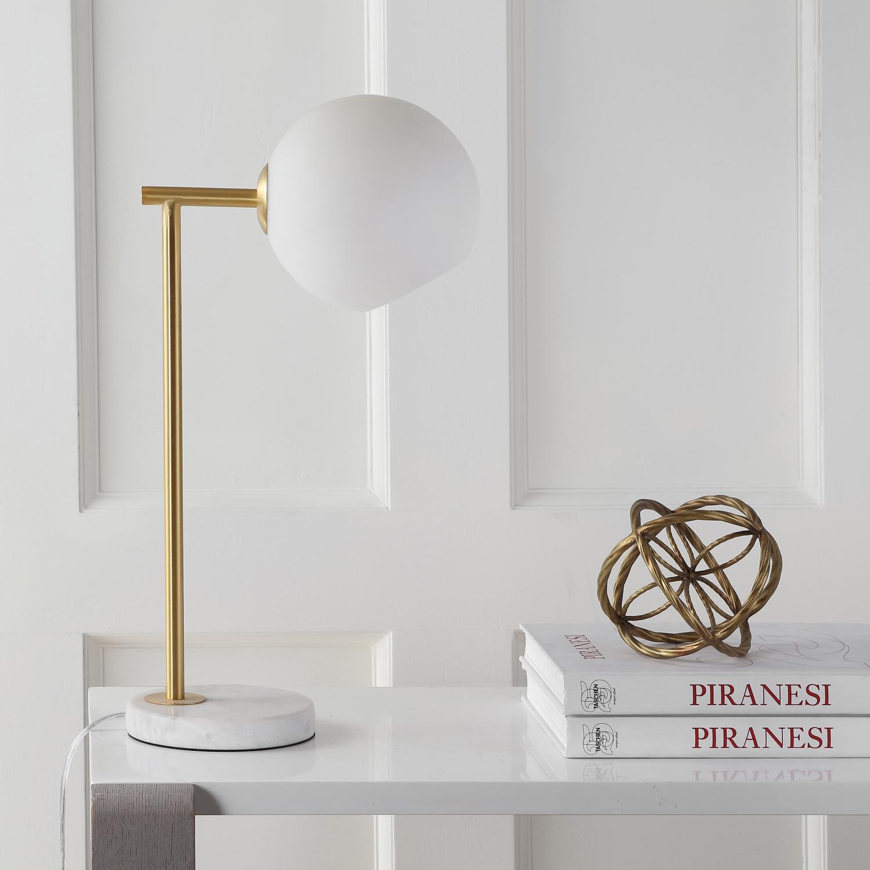 LED Globe Golden Table Lamp