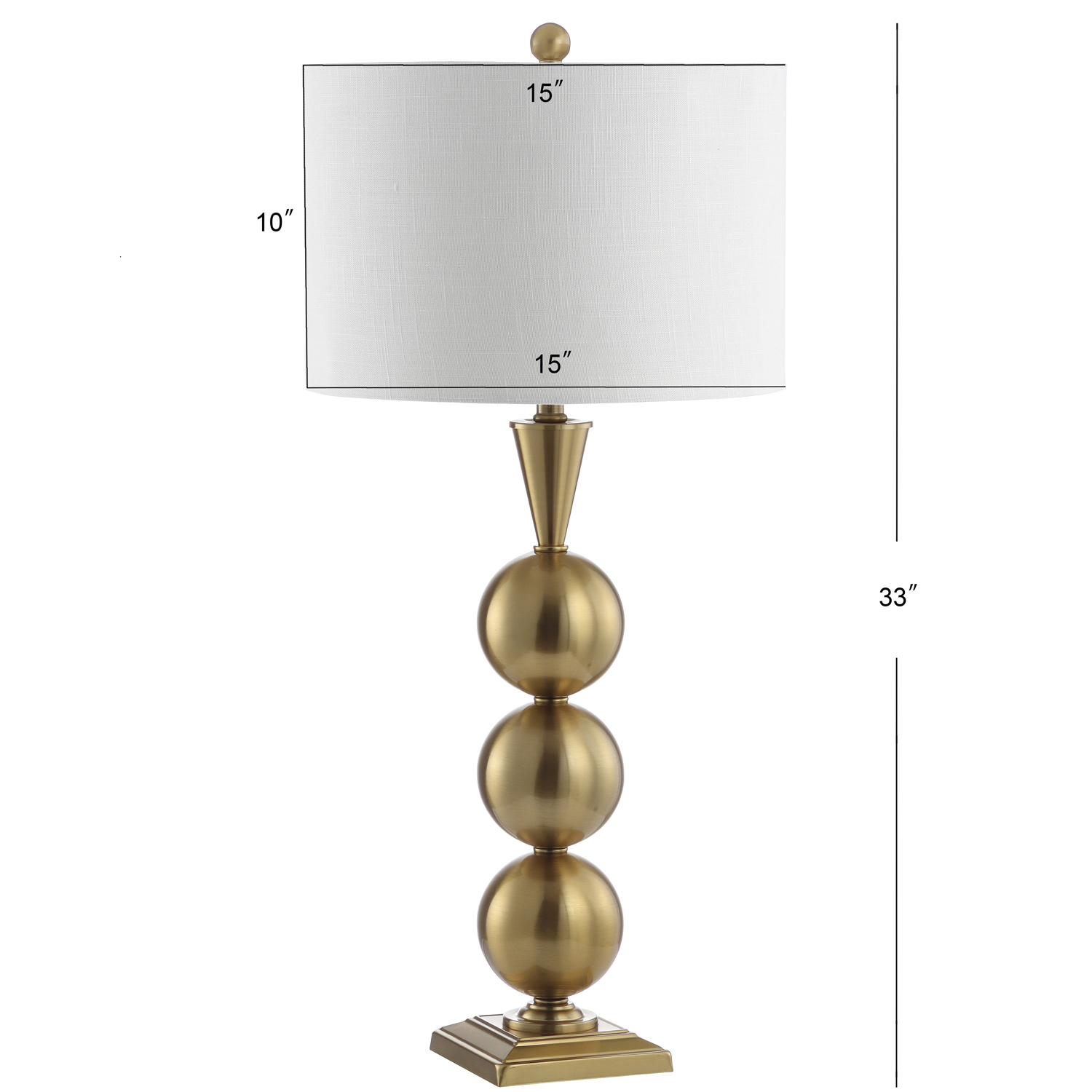 Golden Stacked Orb Table Lamp