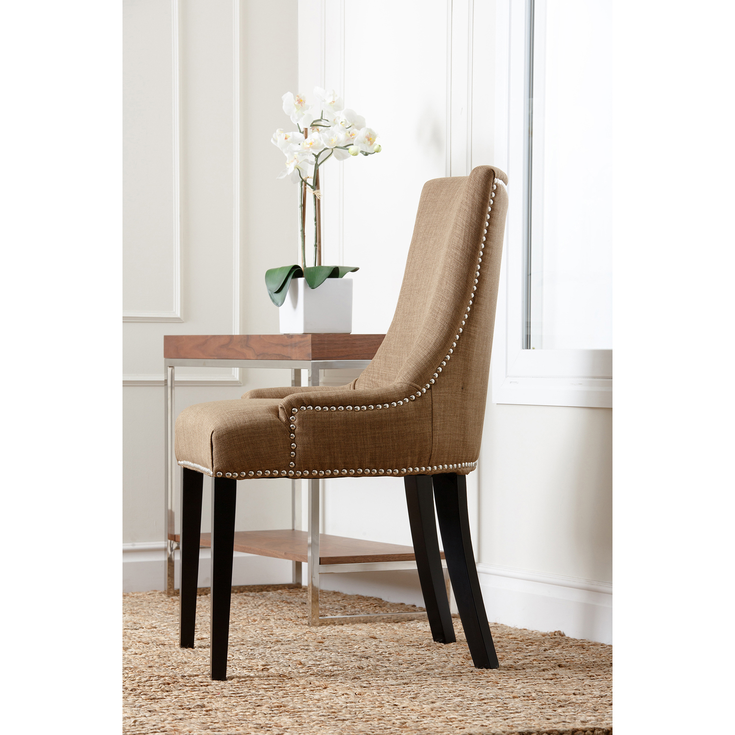 Palma Gold Upholstered Dining Chair