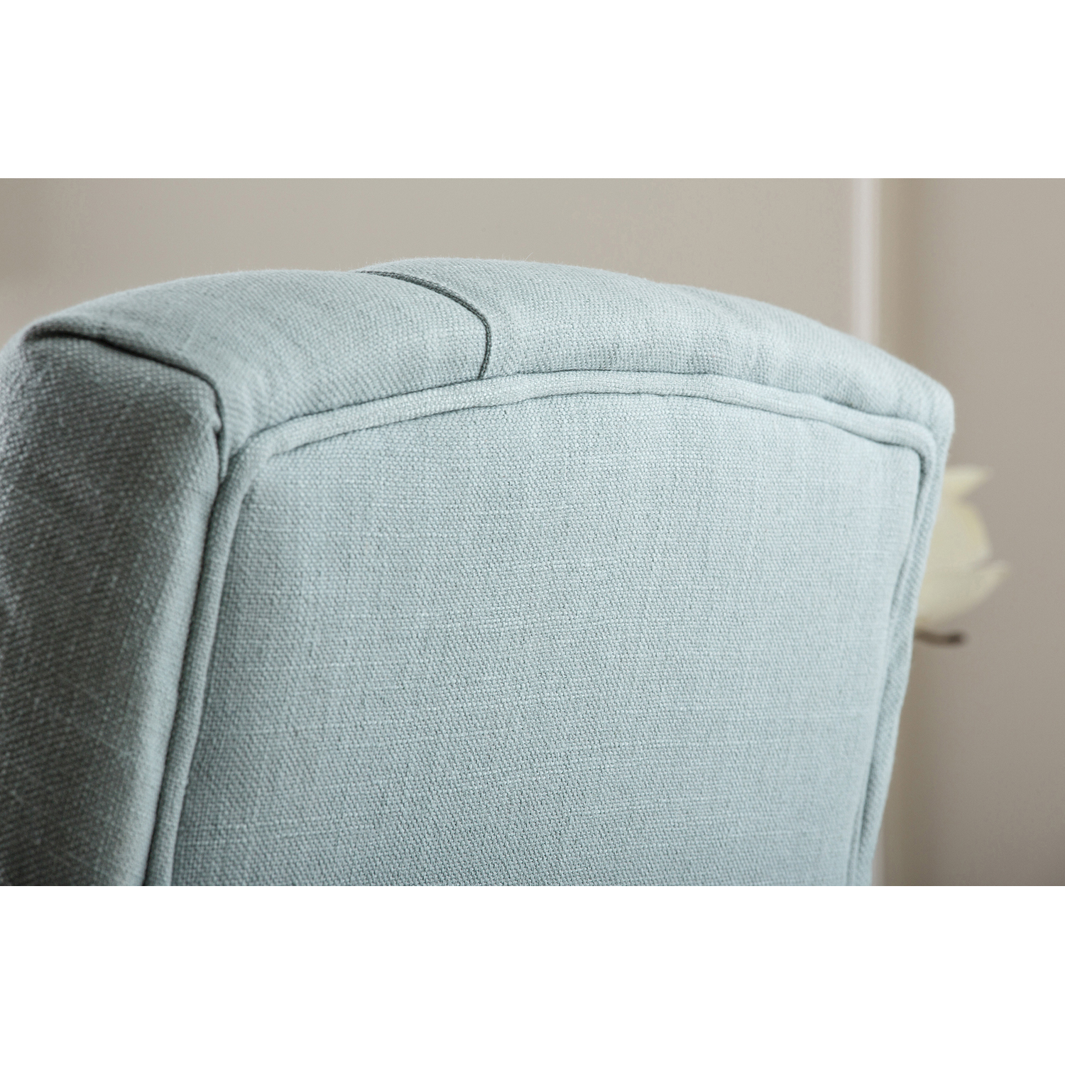 Gill Blue Linen Tufted Dining Chair