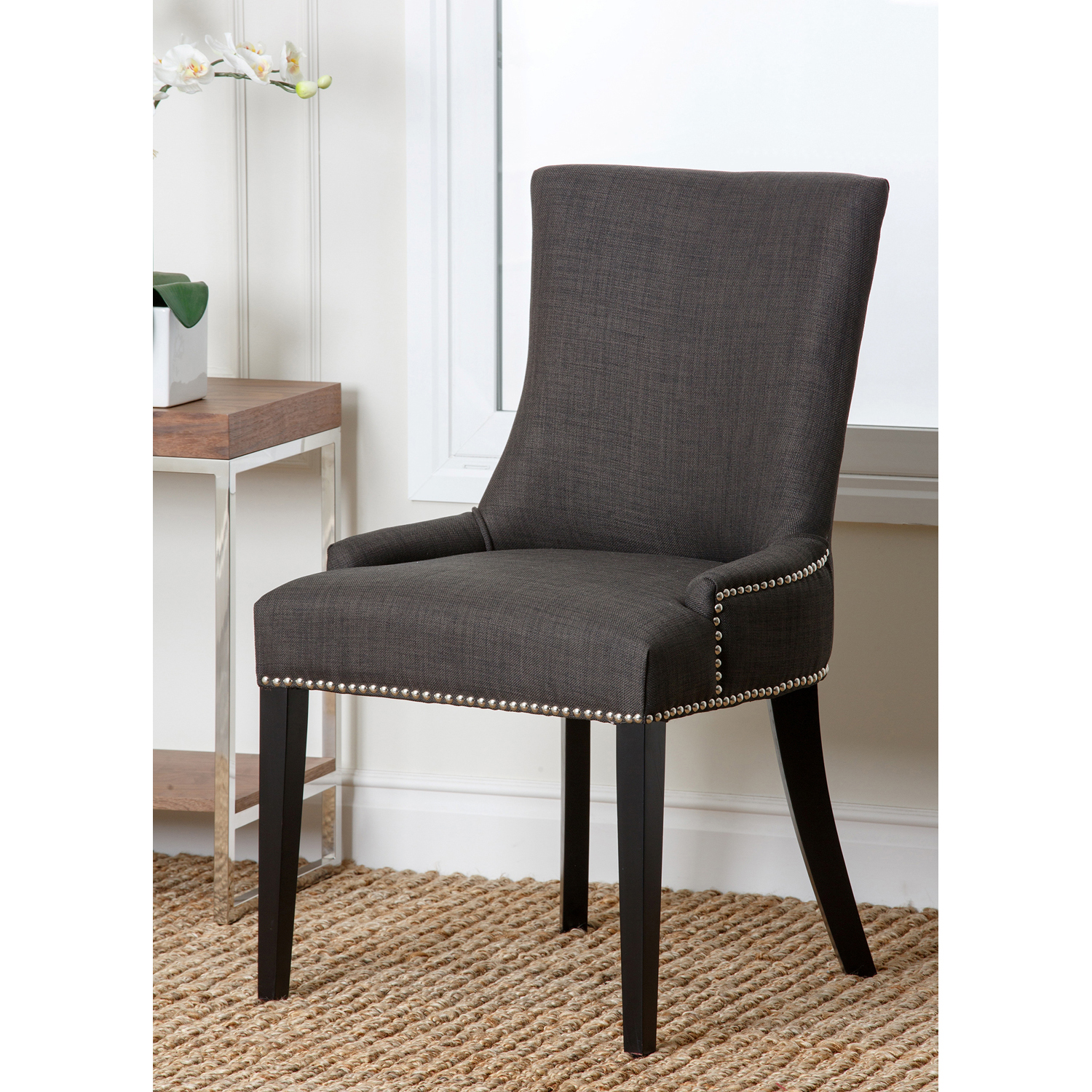 Palma Gray Upholstered Dining Chair
