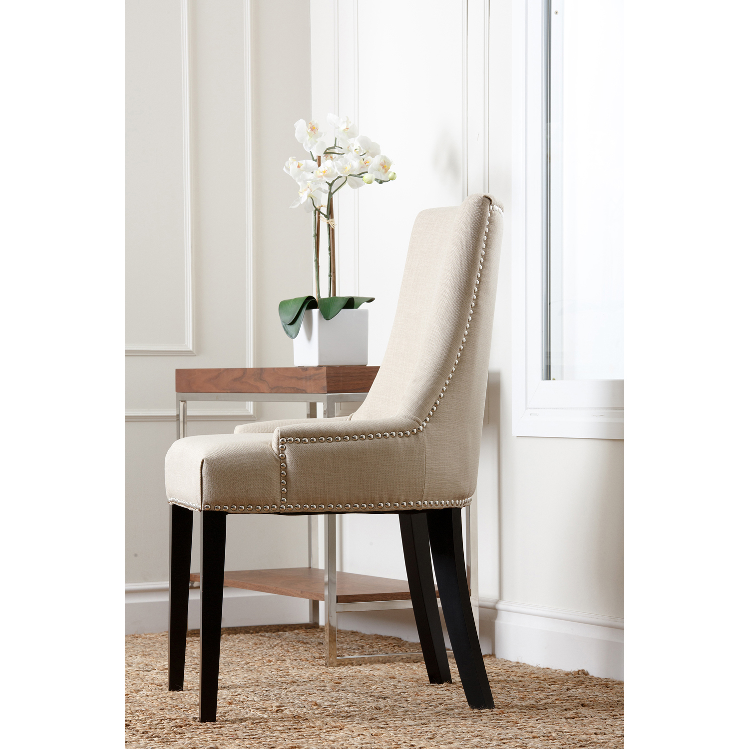 Palma White Upholstered Dining Chair