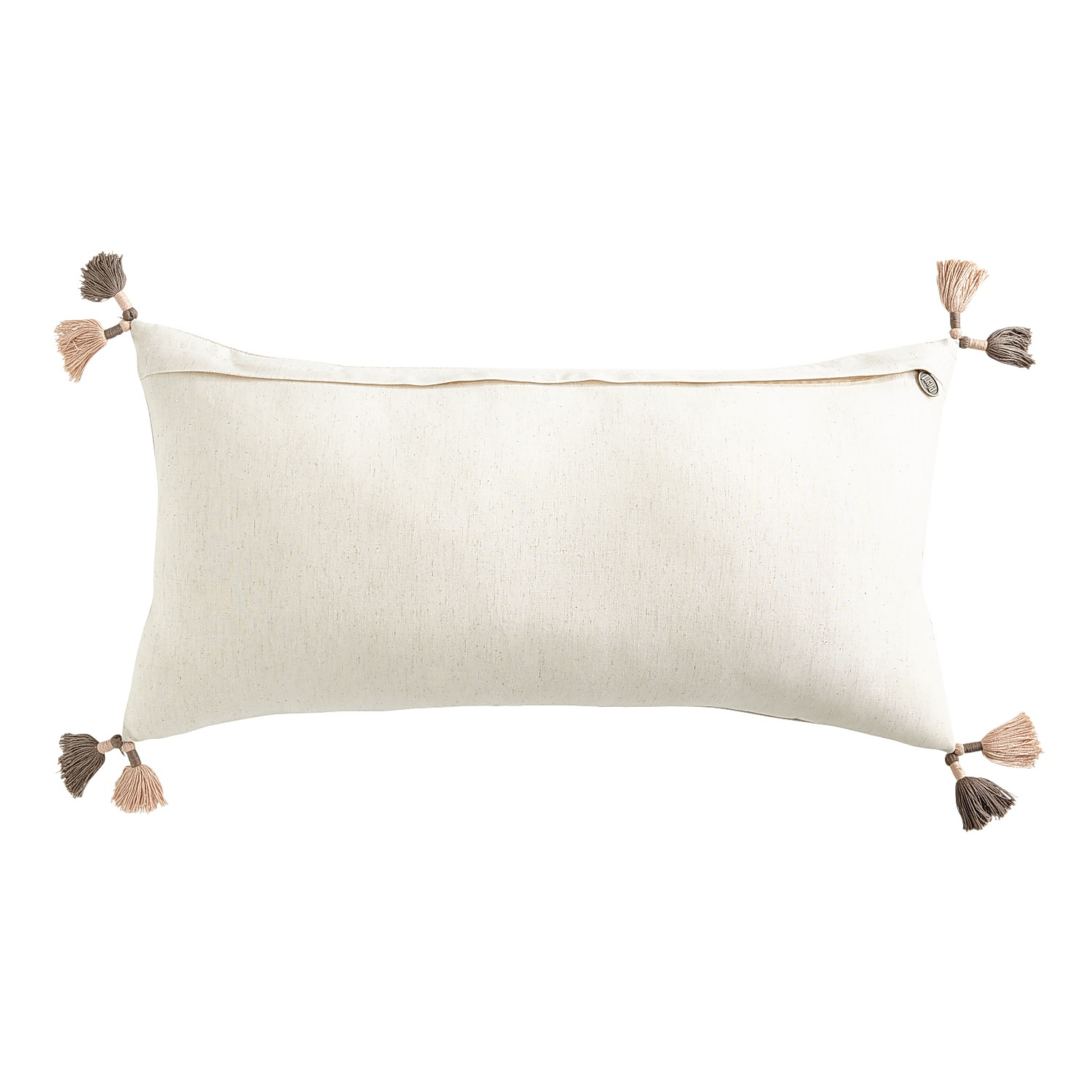 Pumpkins & Squash Lumbar Pillow with Tassels