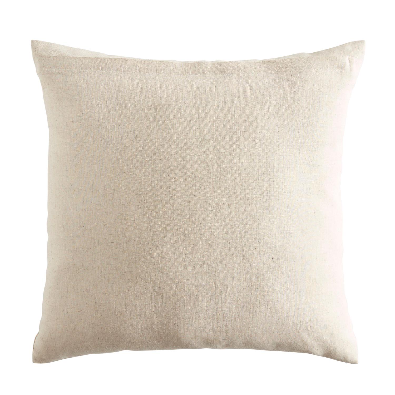 Embroidered Pumpkin Blush & Natural Pillow