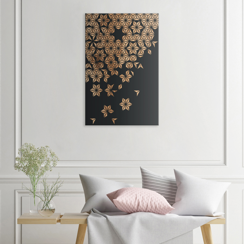 Cherry Blossom Geo Wood Wall Art