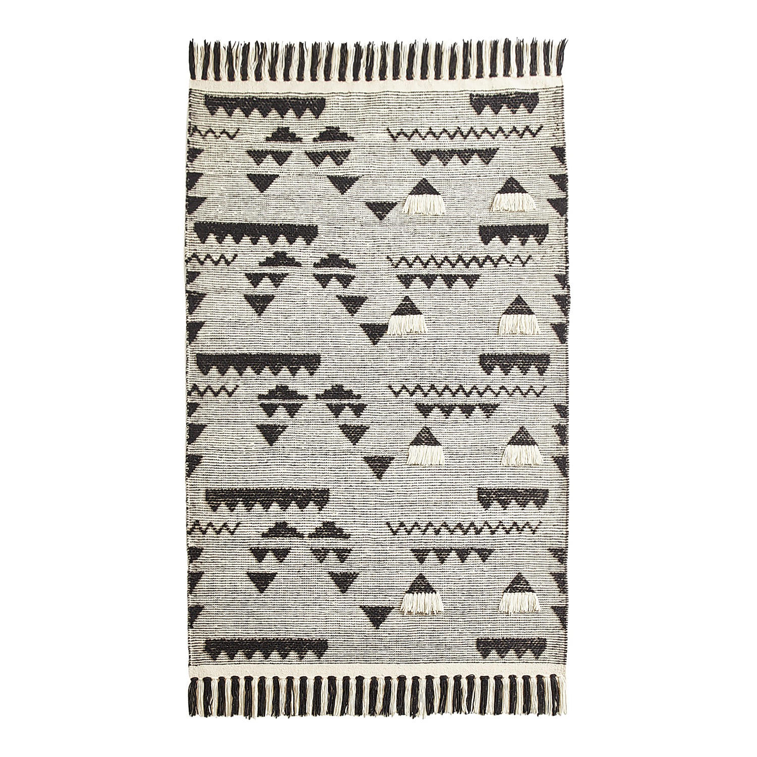 variation thumbnail of Triangle Geometric Flat Weave 5X8 Rug