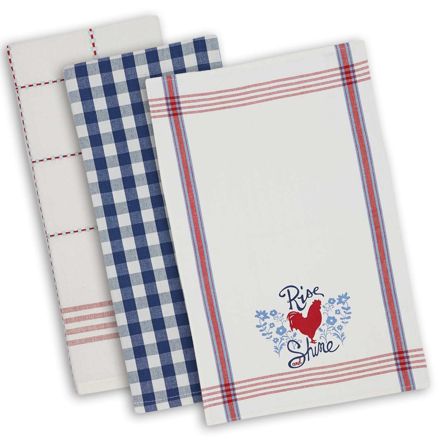 Farmhouse Rooster Dishtowel Set of 3