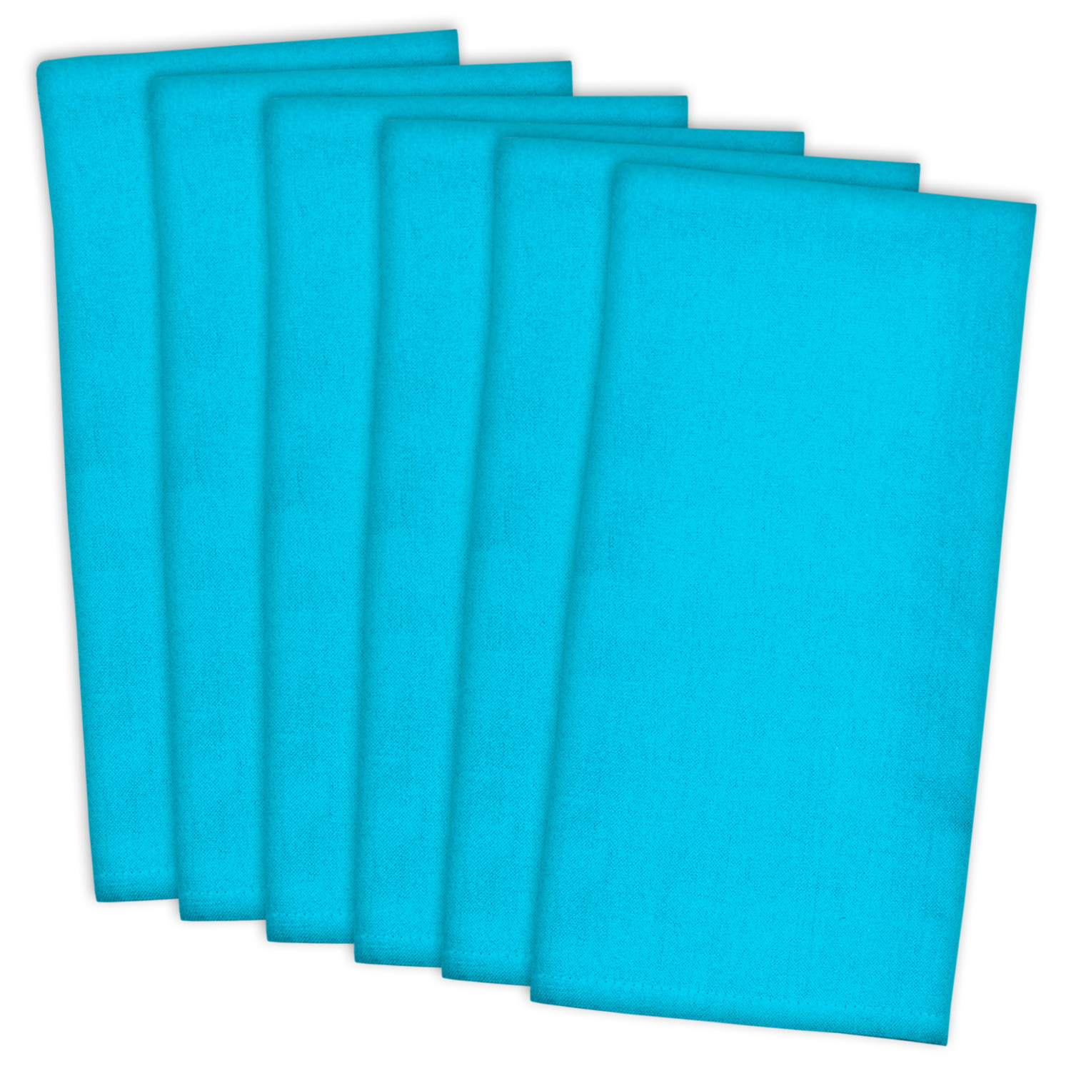 Bright Solid Blue Dishtowel Set of 6
