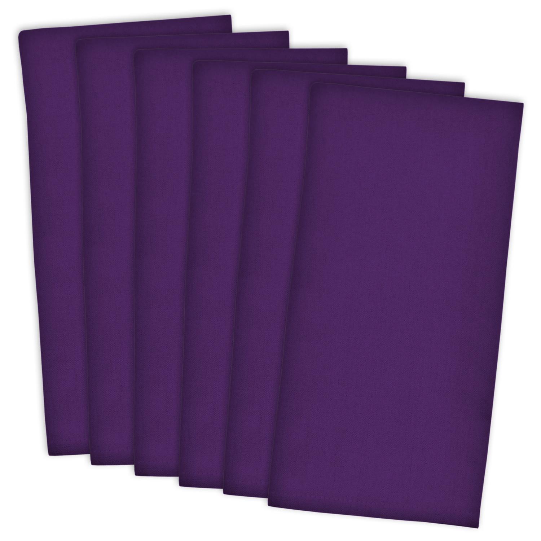 Bright Solid Purple Dishtowel Set of 6