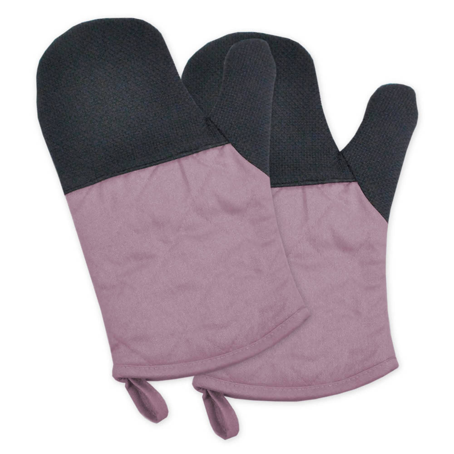 Two-Toned Purple Heat Resistant Oven Mitt Set of 2