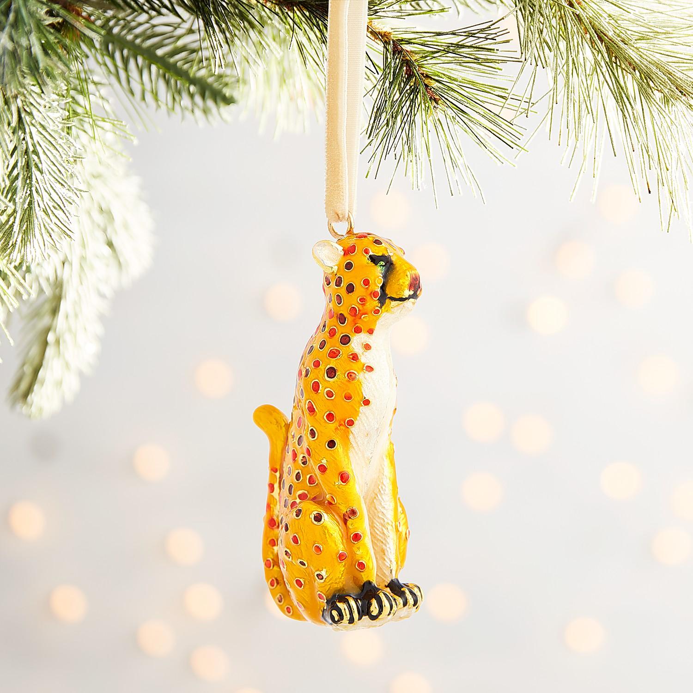 Cloisonne Leopard Ornament