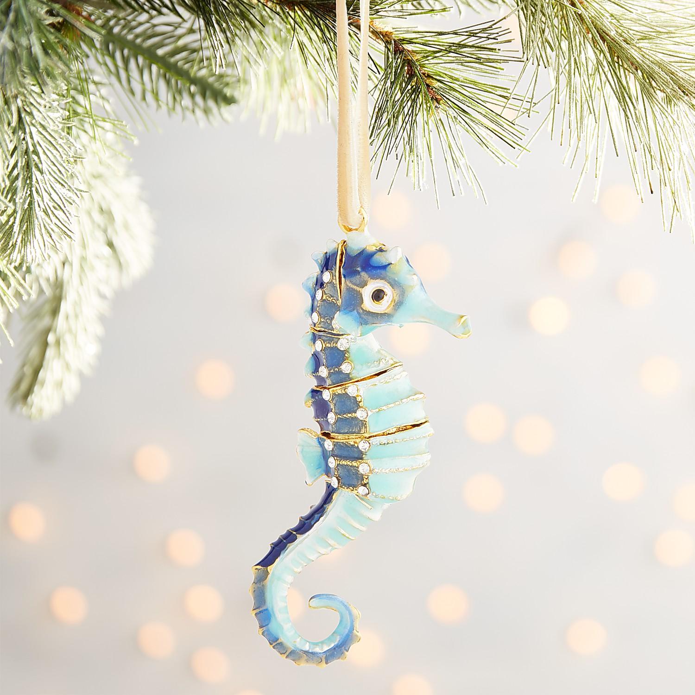 Cloisonne Seahorse Ornament