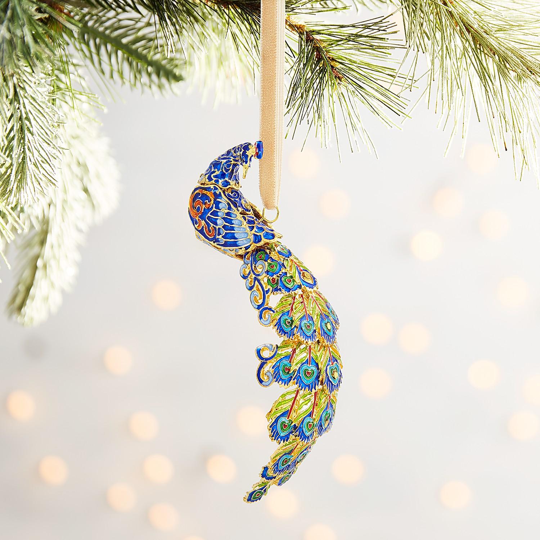 Cloisonne Peacock Ornament