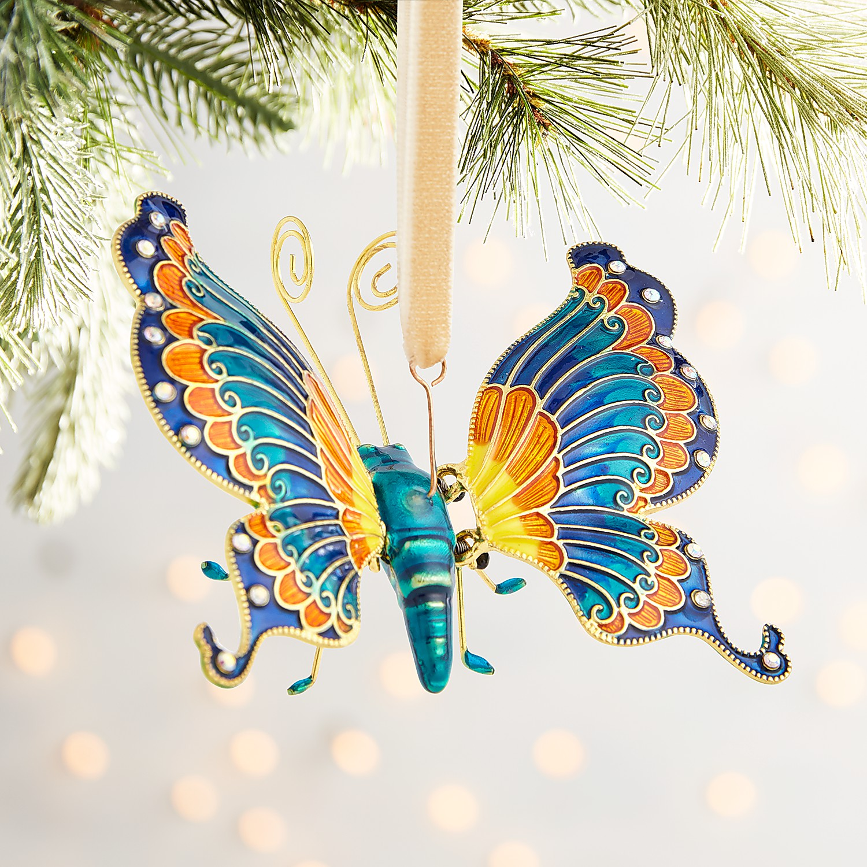 Cloisonne Butterfly Ornament