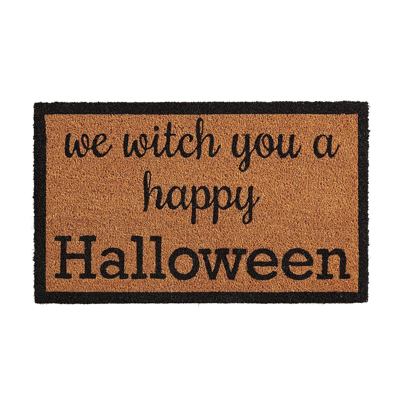"""We Witch You Halloween 2'6""""x1'6"""" Doormat"""