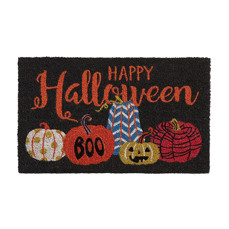 """Happy Halloween Boo 2'6""""x1'6"""" Doormat"""