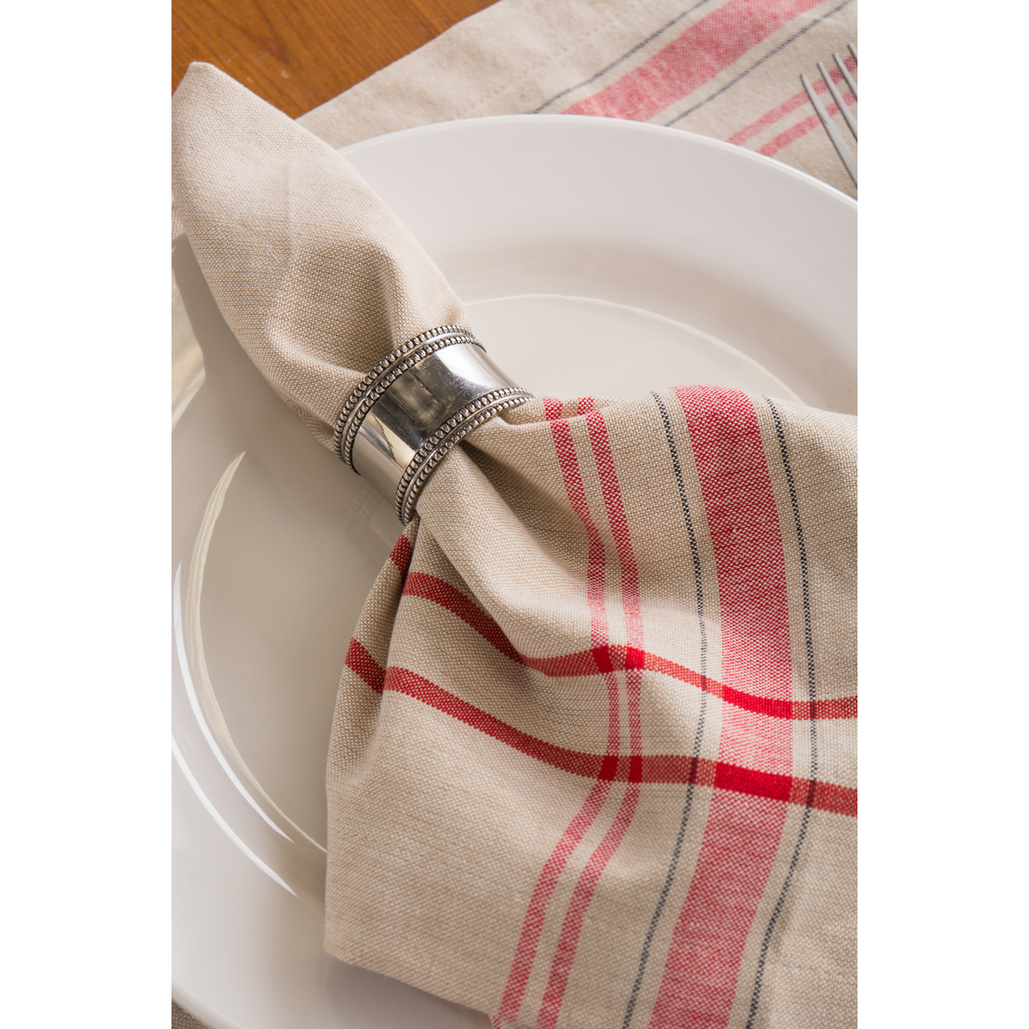 "Clara Red 52"" Square Tablecloth"