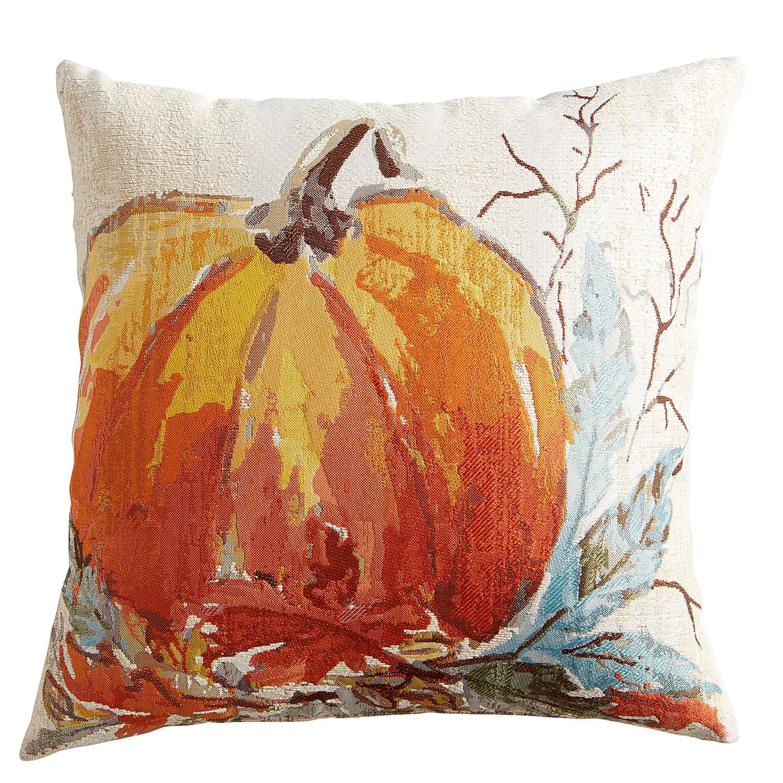 Tapestry Pumpkin Orange Pillow