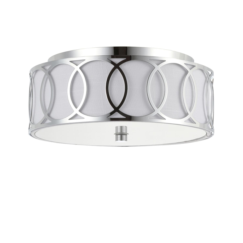 Archie 2-Light Chrome LED Ceiling Light