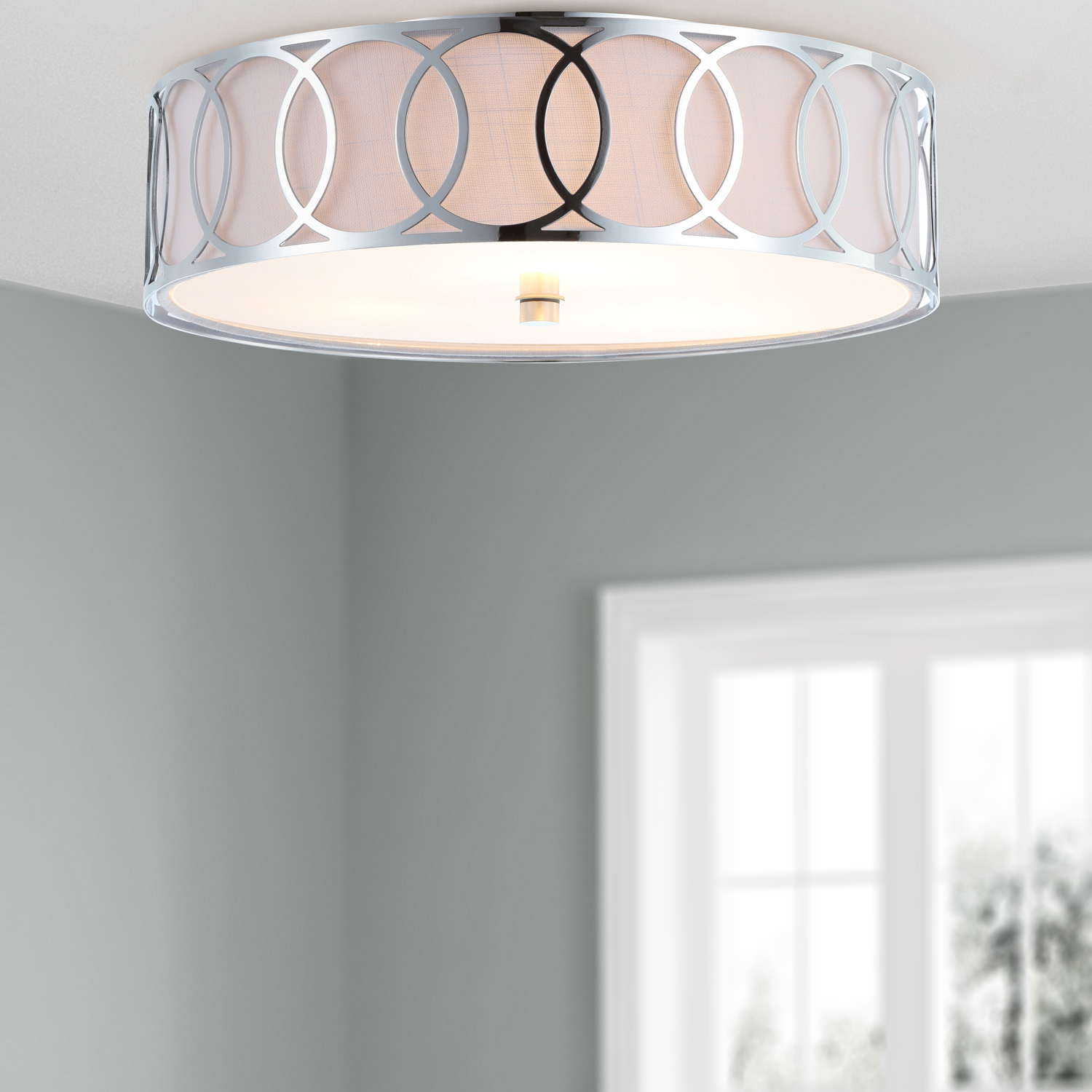 Scarlett Chrome LED Ceiling Light