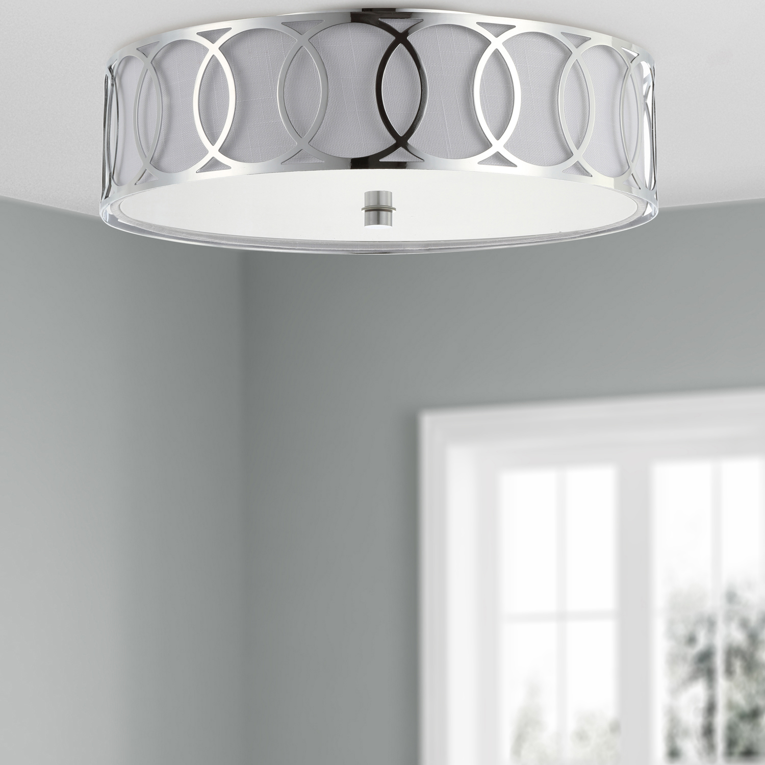 variation thumbnail of Scarlett Chrome LED Ceiling Light