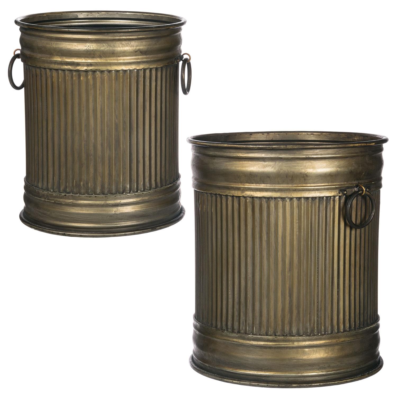 Ribbed Pots Set of 2