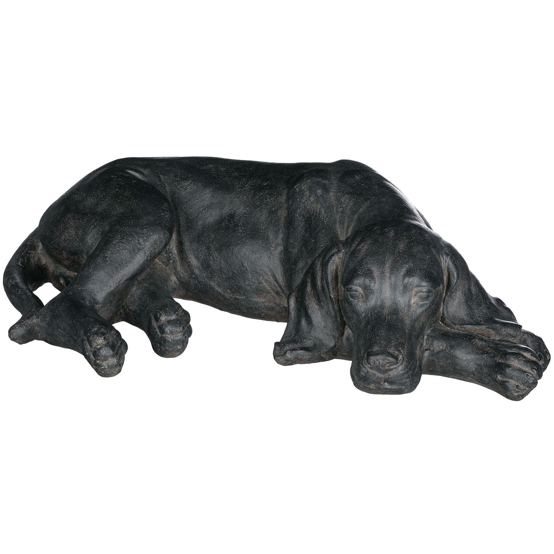 Laying Black Labrador Dog Tabletop Décor
