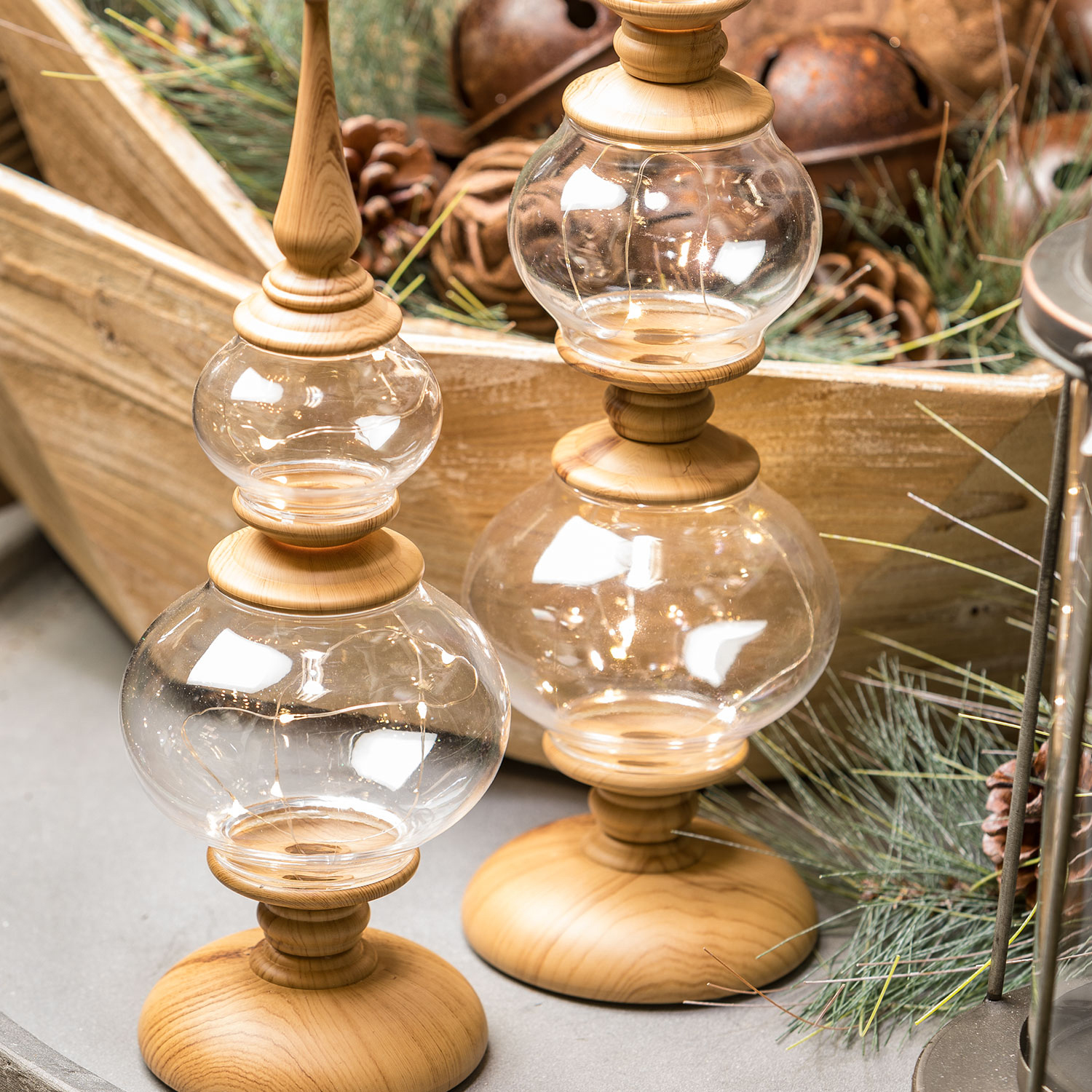 Small Lighted Tabletop Finial