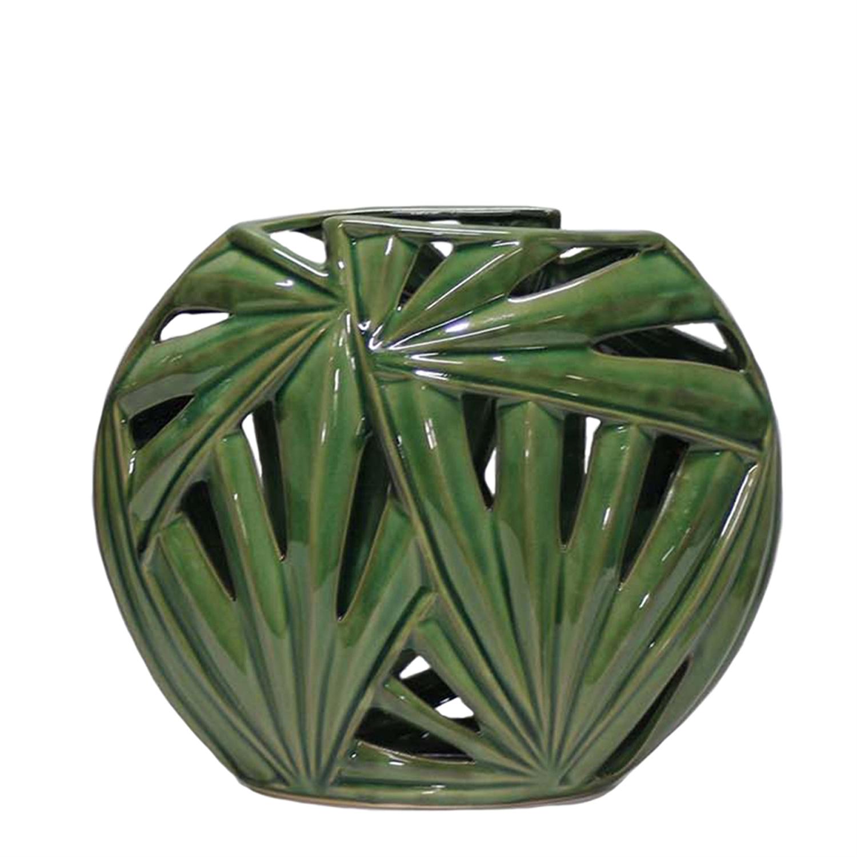 Green Palm Leaf Vase